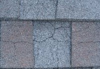 minute cracking in shingles